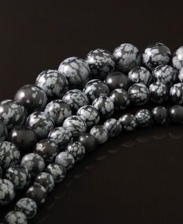 Obsidiano karoliukai 12mm 32vnt KA129