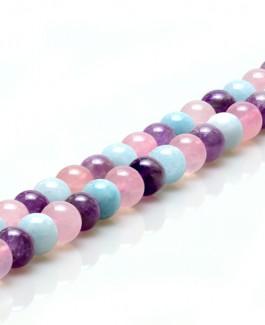 Lavender akmens karoliukai 10mm 39vnt KA281